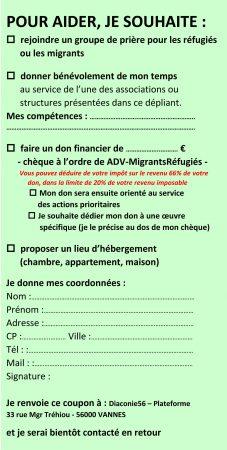 coupon aider migranst et réfugiés
