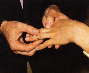 mariage - remise alliance