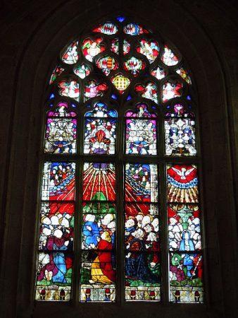 vitrail Ascension Le Faouët