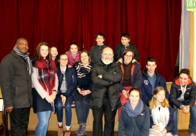 Mauron-visite pastorale-Mgr-pot-jeunes