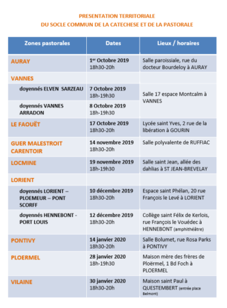 calendrier bis socle commun presentation 2019-2020
