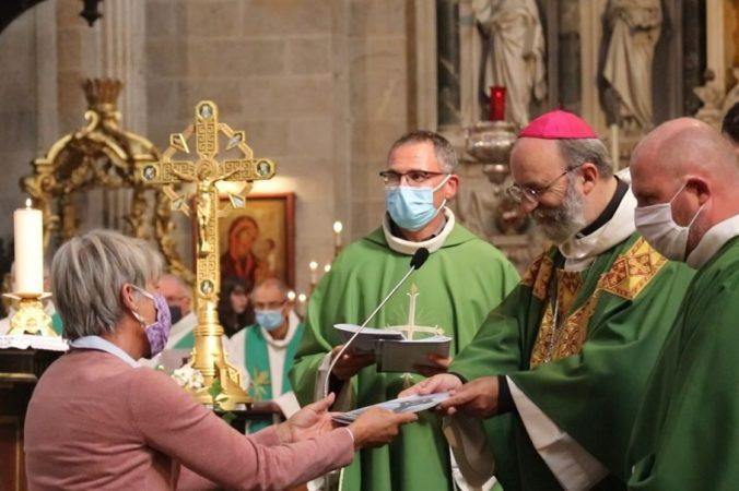 Remise de la lettre de Mgr - Rentrée diocésaine 2020